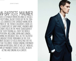 Actor JEAN BAPTISTE MAUNIER AUGUST MAN MAGAZINE - MARCH 2014